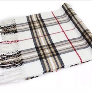 Other - 1 LEFT  White Classic Plaid Scarf